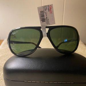 Ray-ban Black Aviator Polarized Sunglasses NWT